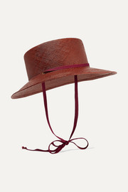 Telescope grosgrain-trimmed straw hat