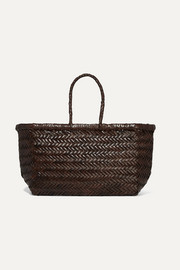 Dragon Diffusion  Bamboo Triple Jump small woven leather tote