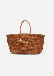 Bamboo Triple Jump woven leather tote