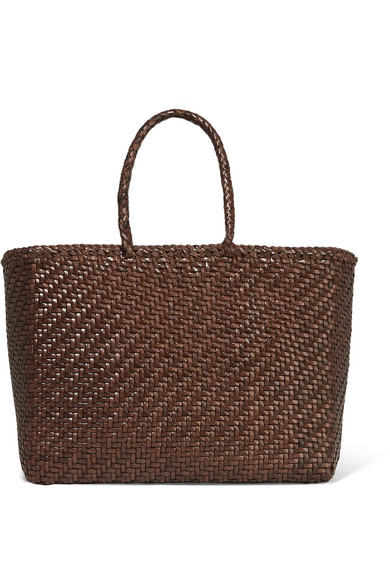 Basket Woven Leather Tote by Dragon Diffusion
