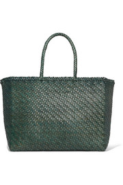 Dragon Diffusion Basket big woven leather tote