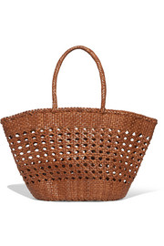 Dragon Diffusion Cannage woven leather tote