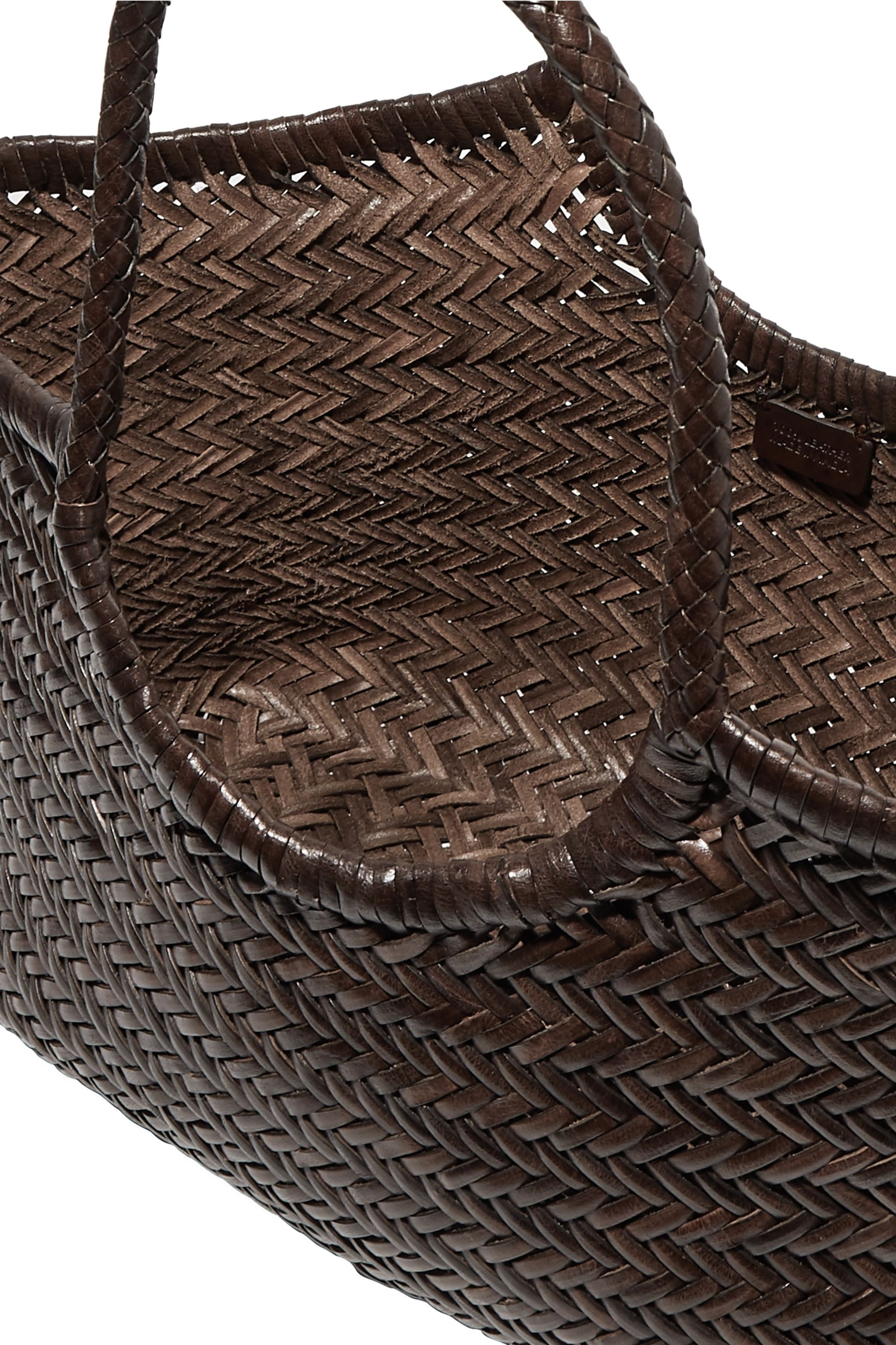 Dragon Diffusion Nantucket large woven leather tote