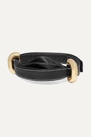 Ellery Bremen leather and gold-tone choker