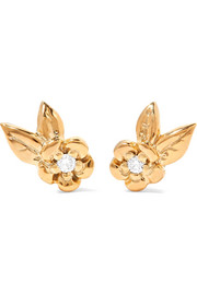Alba gold-plated diamond earrings