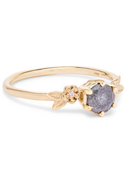 Alba 9-karat gold diamond ring