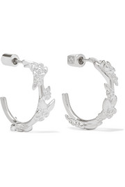Alba small silver hoop earrings