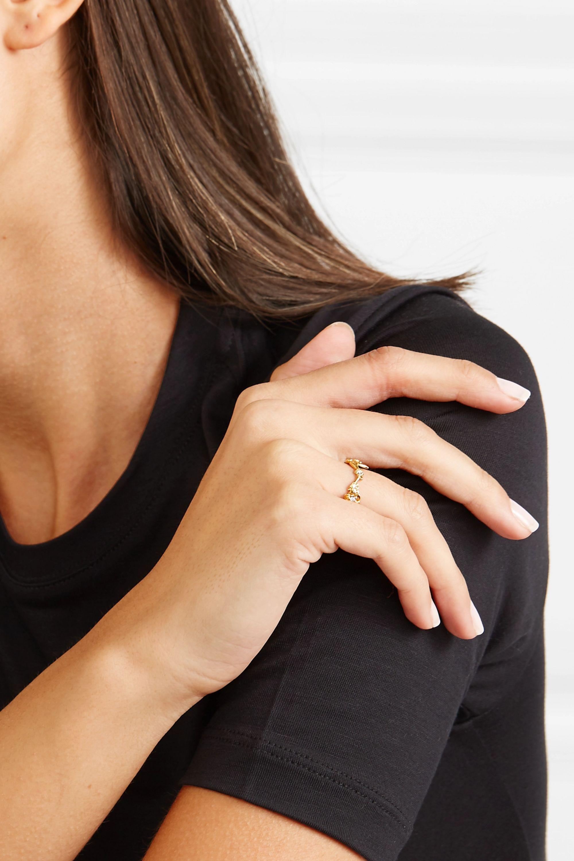 Meadowlark Alba Vine gold-plated diamond ring