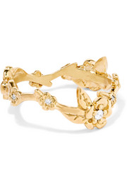 Alba Vine gold-plated diamond ring
