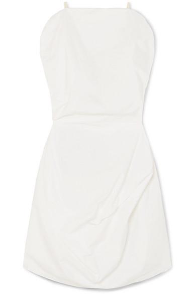 Mm6 Maison Margiela Dresses Draped cotton-poplin mini dress
