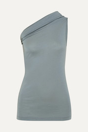 Rick Owens One-shoulder stretch-jersey top