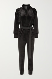 Norma Kamali Turtle stretch-velvet jumpsuit