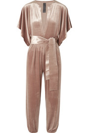 Norma Kamali Rectangle velvet jumpsuit