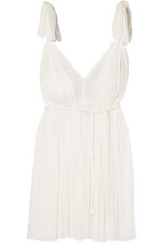 Elena Makri Daphne pleated silk-tulle mini dress