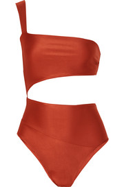 Haight Lu one-shoulder cutout swimsuit