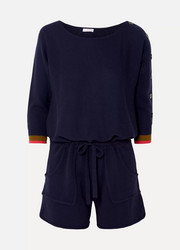 Visuel cashmere and wool-blend playsuit