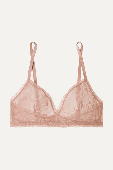 ERES | Eres - Bang Stretch-lace Soft-cup Triangle Bra - Antique rose | Goxip