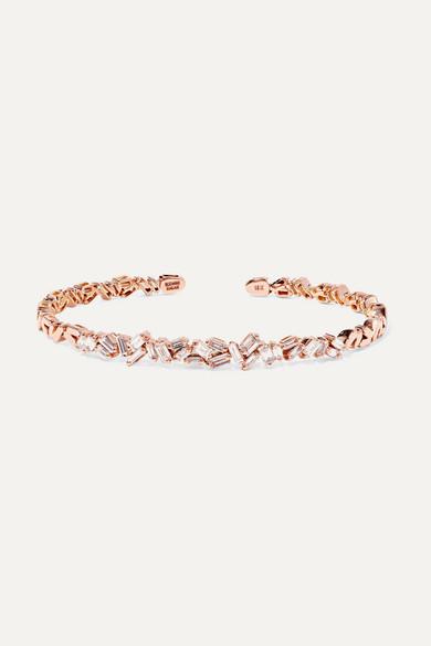 18-Karat Rose Gold Diamond Cuff
