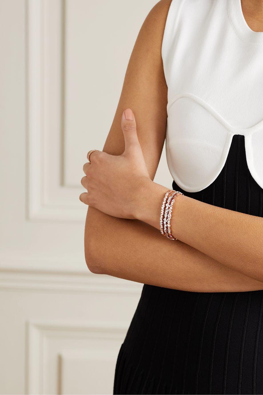 Suzanne Kalan Bracelet en or rose 18carats et diamants