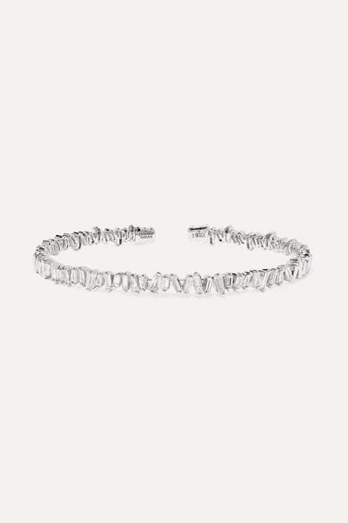 18-Karat White Gold Diamond Cuff