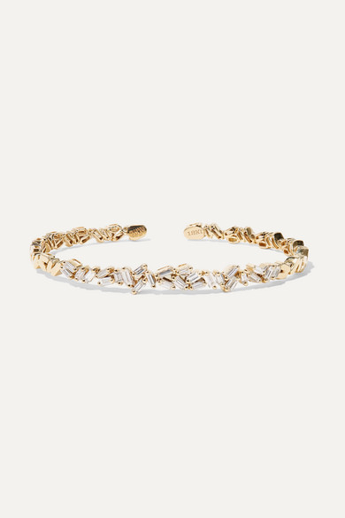 18-Karat Gold Diamond Cuff