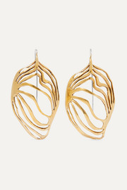 Ariana Boussard-Reifel Monarch gold-tone earrings