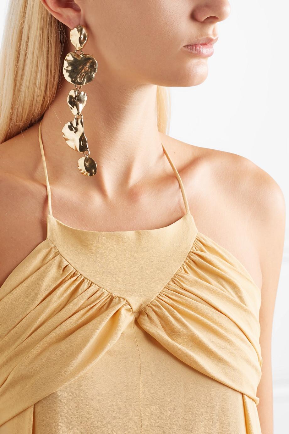 Ariana Boussard-Reifel Artemisia gold-tone earrings
