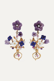 Forget Me Not gold vermeil multi-stone earrings