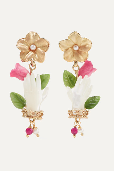 OF RARE ORIGIN Bud Gold Vermeil Multi-Stone Earrings