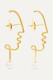 Paola Vilas Henri gold-plated pearl earrings