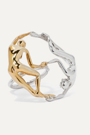 Dança silver and gold-plated ring