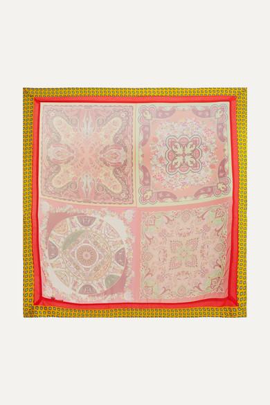 Etro - Printed silk-chiffon scarf