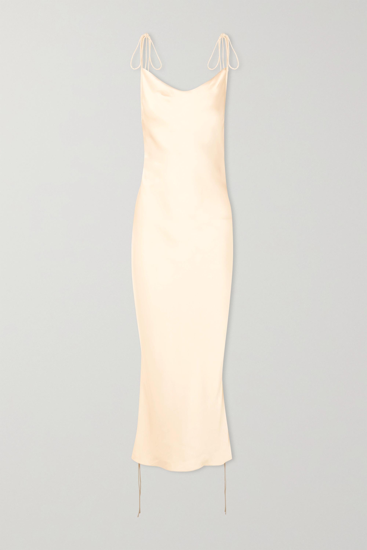 Orseund Iris Kleid aus Satin mit Raffung