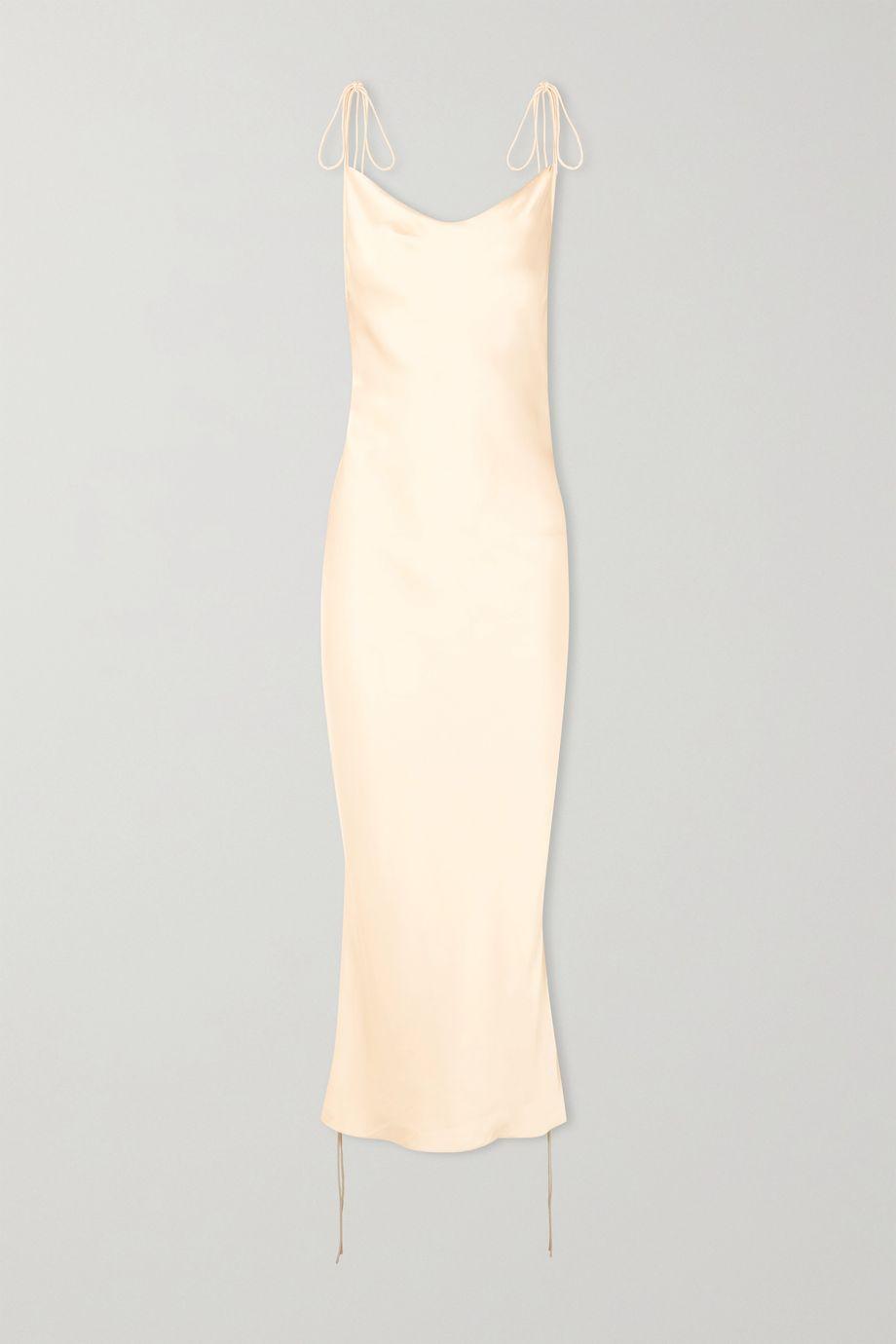 Orseund Iris Robe en satin à fronces