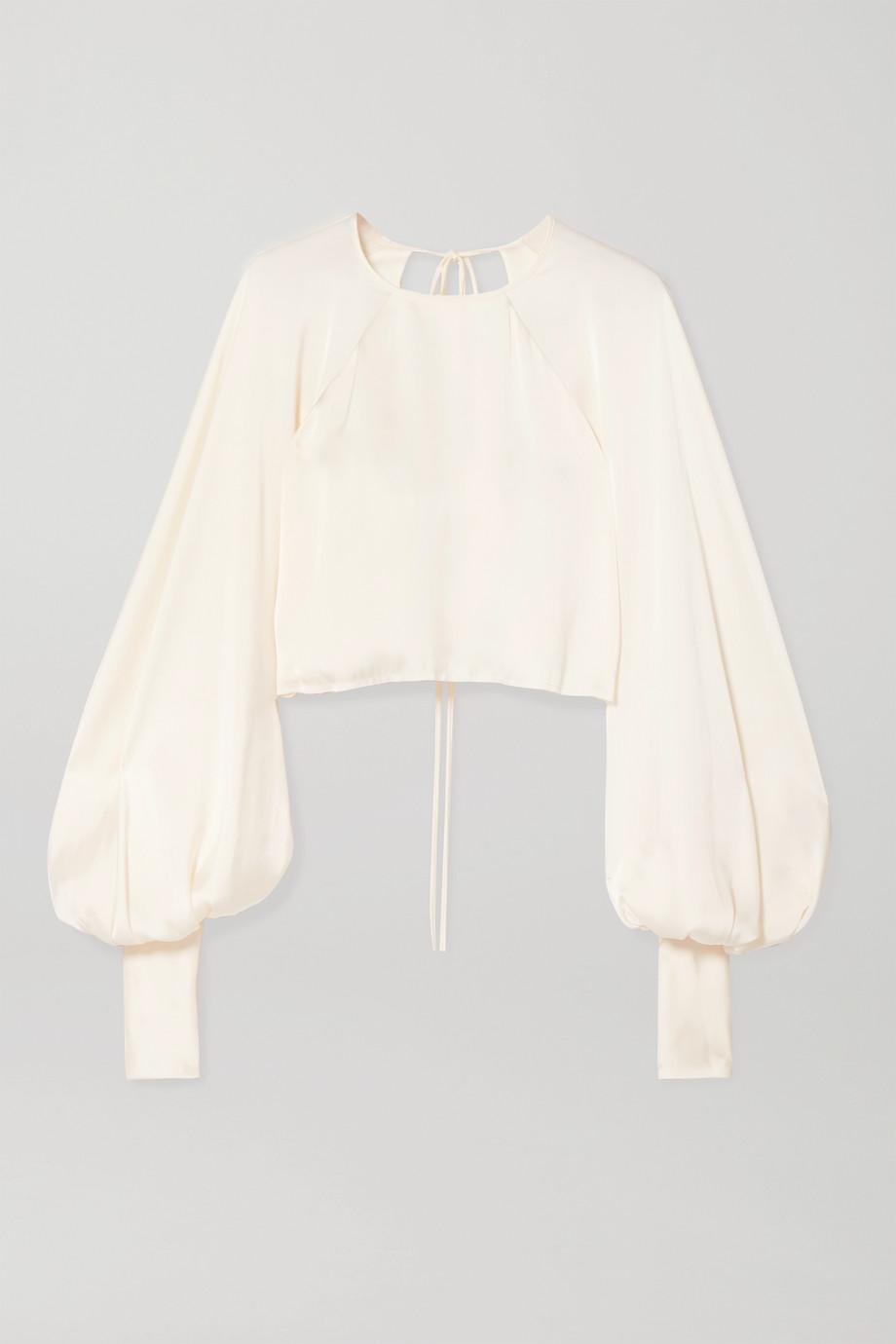 Orseund Iris Drama cropped satin blouse