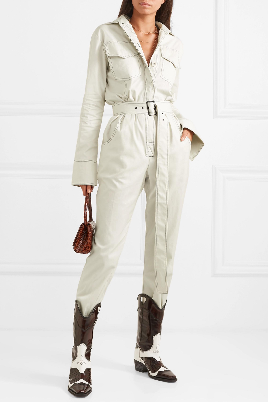 Orseund Iris Combi-pantalon en gabardine de coton à ceinture Workwear