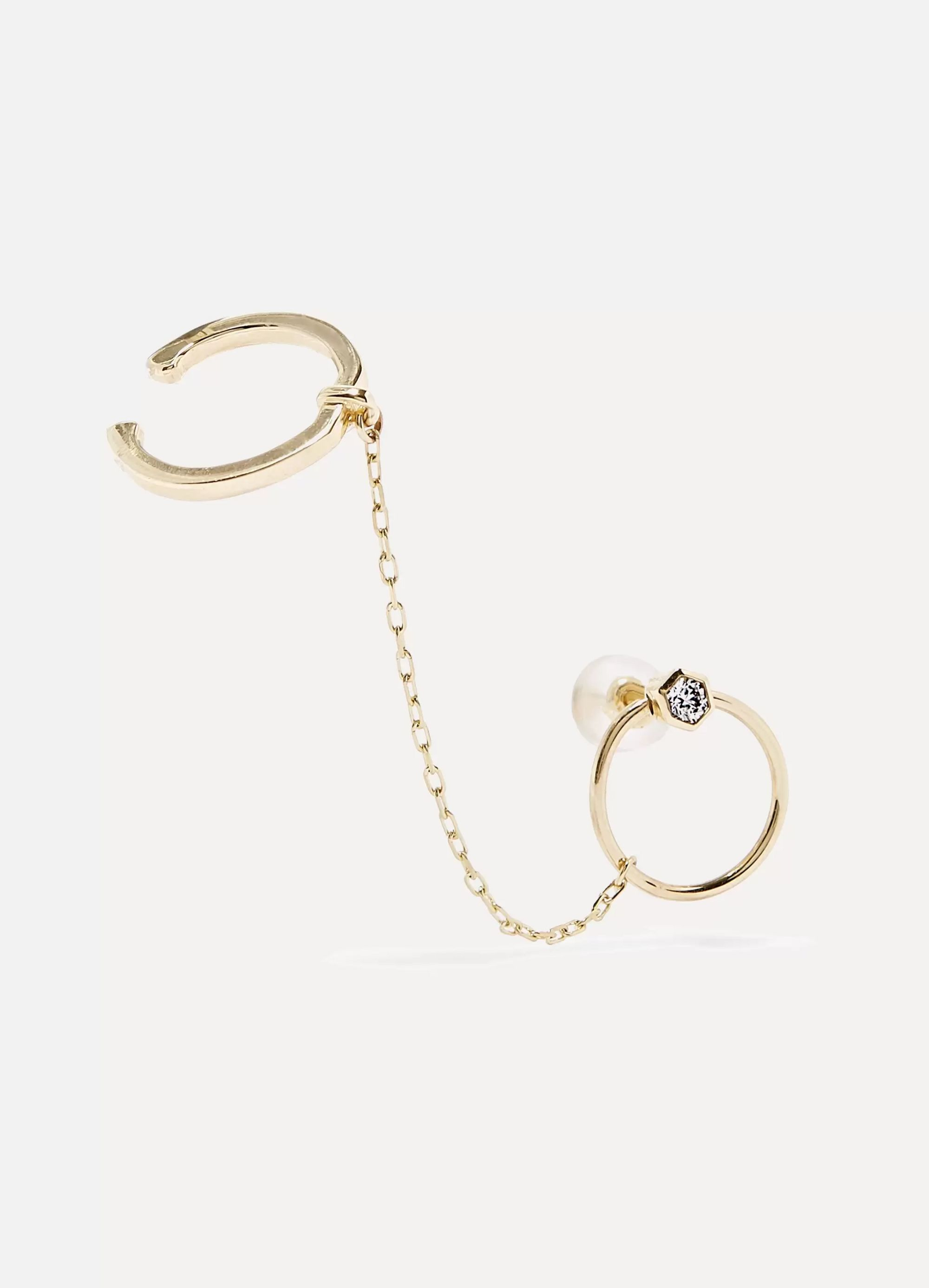 Hirotaka Bow 10-karat gold diamond earring