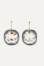 Fred Leighton Collection 18-karat gold, silver-plated and topaz earrings