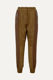 Haider Ackermann Paneled cotton-blend and linen track pants