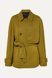 Belted twill jacket