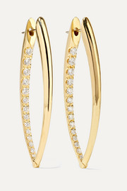 Cristina 18-karat gold diamond earrings