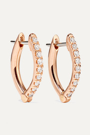Cristina 18-karat rose gold diamond earrings