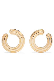 Jen 18-karat gold hoop earrings
