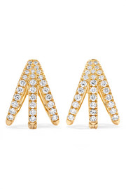 Cris 18-karat gold diamond earrings