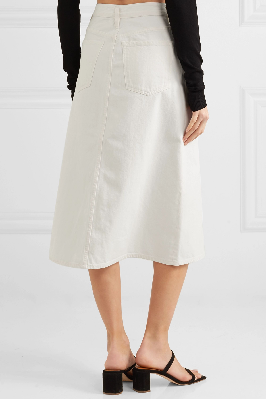 GOLDSIGN The A denim midi skirt