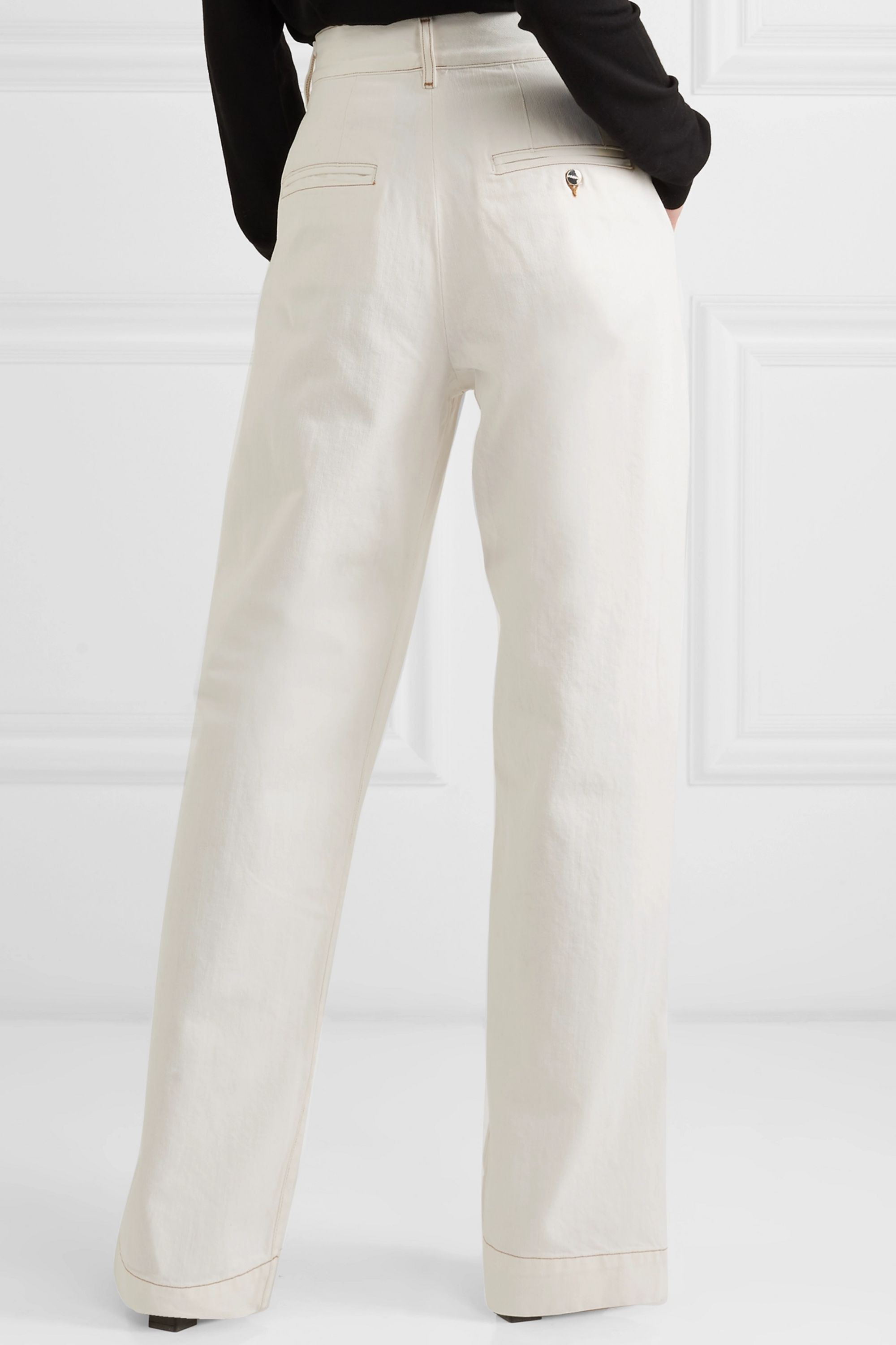 GOLDSIGN The Trouser high-rise wide-leg jeans