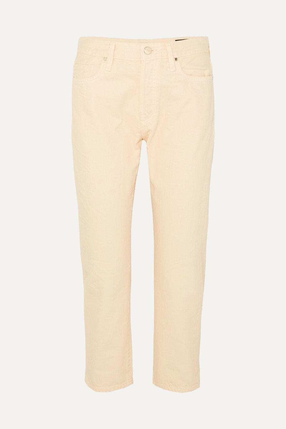 GOLDSIGN The Low Slung cropped low-rise straight-leg jeans