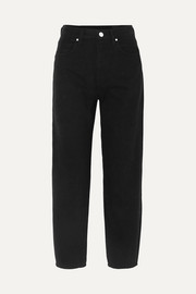 The Curved cropped high-rise tapered jeans
