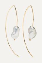 0f298039a9aa3a Mizuki Open Marquis 14-karat gold pearl earrings