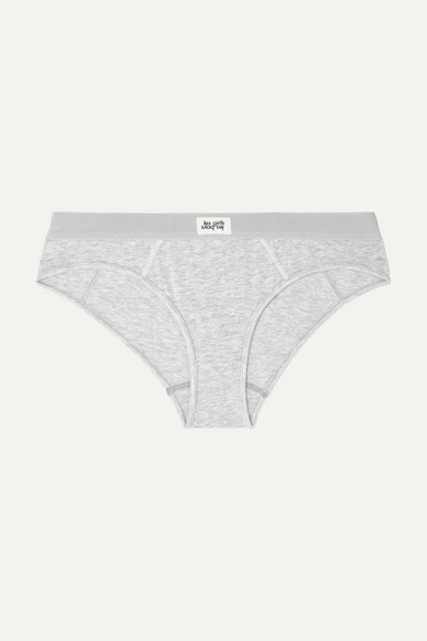 LES GIRLS, LES BOYS Ultimate Comfort Stretch-Cotton Jersey Briefs in Gray